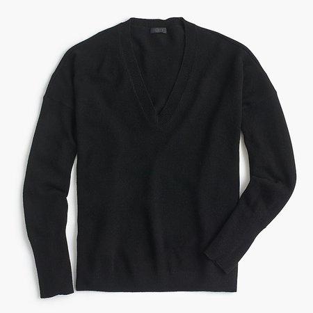J.Crew Cashmere V-neck Boyfriend Sweater