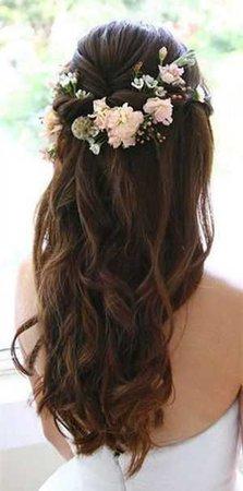 brown flower hair