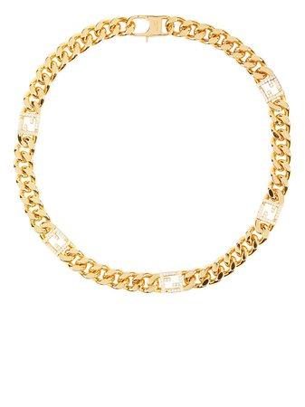 Fendi Baguette crystal-embellished Bracelet - Farfetch