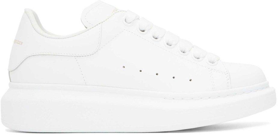 Alexander McQueen: White Oversized Sneakers   SSENSE