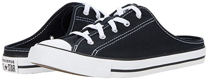 Chuck Taylor All Star Dainty Mule Slip-On (Black/Black/White) Women's Shoes
