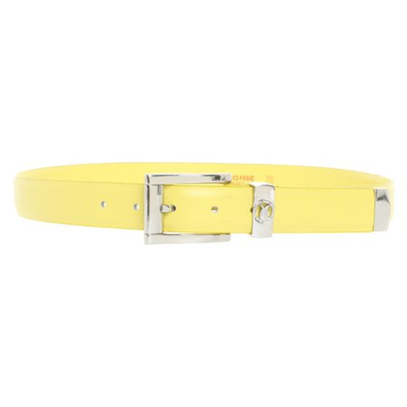 Versace Belt Leather in Yellow - Second Hand Versace Belt Leather in Yellow buy used for 49€ (3813982)