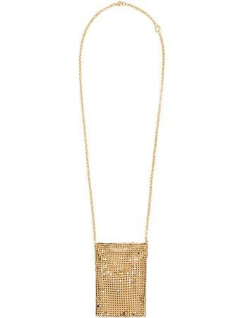 Paco Rabanne chain mesh pendant necklace - FARFETCH