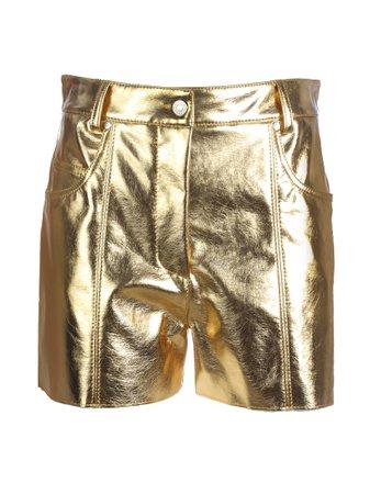MSGM Metallic Shorts