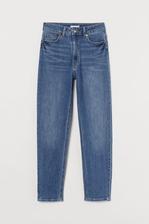 Slim Mom High Ankle Jeans - Blue