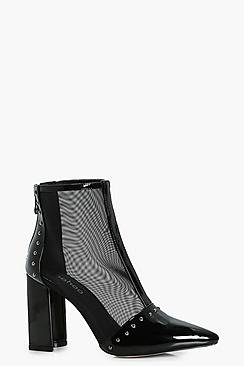 Cerry Mesh Studded Shoe Boots