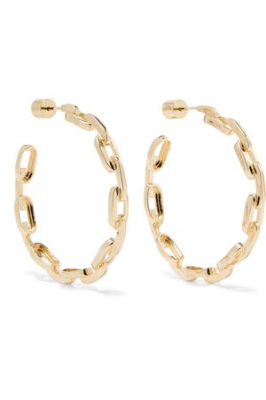 Jennifer Fisher | Baby Chain Link gold-plated earrings | NET-A-PORTER.COM
