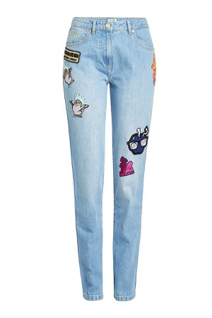 Patched Baggy Jeans Gr. FR 38