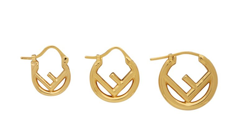 Fendi Triple Hoop Earrings