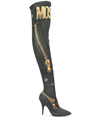 Moschino over-the-knee Boots - Farfetch