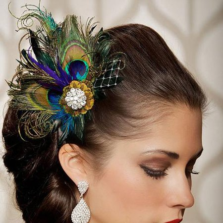 Hair Jewellery Peacock Feather