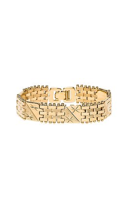 Vanessa Mooney The Members Only Bracelet in Gold | REVOLVE