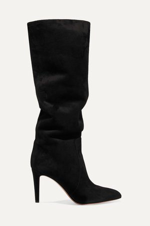 Black 85 suede knee boots | Gianvito Rossi | NET-A-PORTER