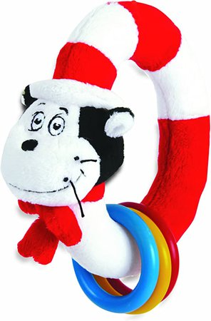 Amazon.com: Manhattan Toy Dr. Seuss Cat in The Hat Take and Shake Ring Rattle and Teether Toy: Baby