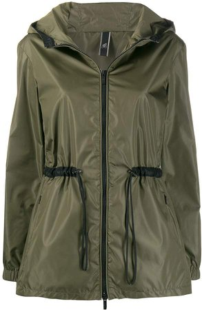 zipped hooded parka