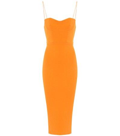 Alex Perry - Lee stretch-crêpe midi dress   Mytheresa