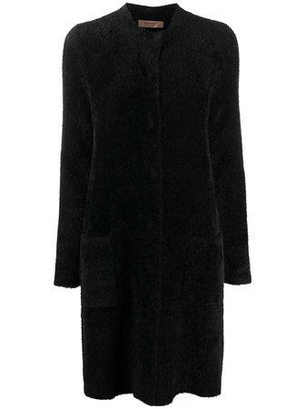 Twin-Set Fluffy Longline Coat - Farfetch