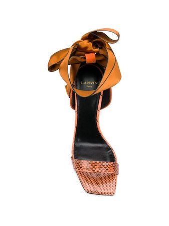 Orange Lanvin Bow Tie Sandals | Farfetch.com