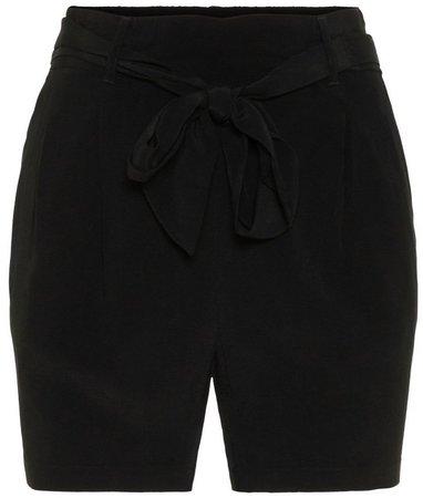 **Vero Moda Black Tie Waist Shorts
