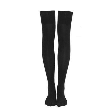 Japanese Black Velvet Thigh High Tights SD01068– SYNDROME - Cute Kawaii Harajuku Street Fashion Store