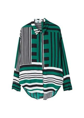 MANGO Mixed print shirt