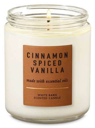Cinnamon Spiced Vanilla Single Wick Candle | Bath & Body Works