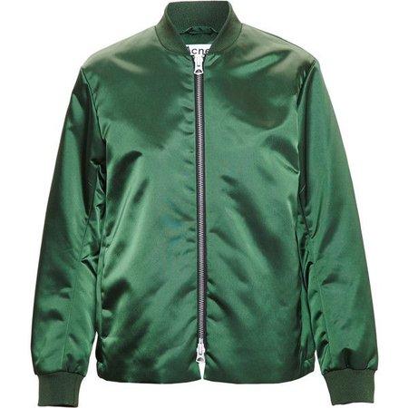Acne green bomber jacket