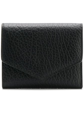Shop black Maison Margiela textured leather wallet with Express Delivery - Farfetch