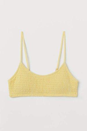 Padded Bikini Top - Yellow