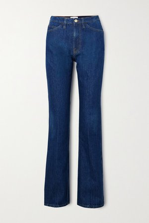Le Italien High-rise Flared Jeans - Mid denim