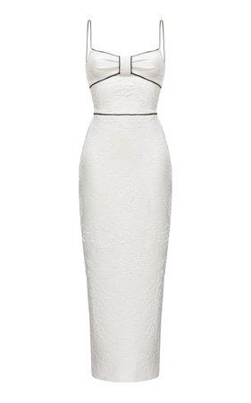 Jacquard Maxi Dress With Piping By Rasario | Moda Operandi