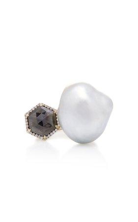 One-Of-A-Kind Silver Baroque South Sea Pearl Ring by Mizuki | Moda Operandi