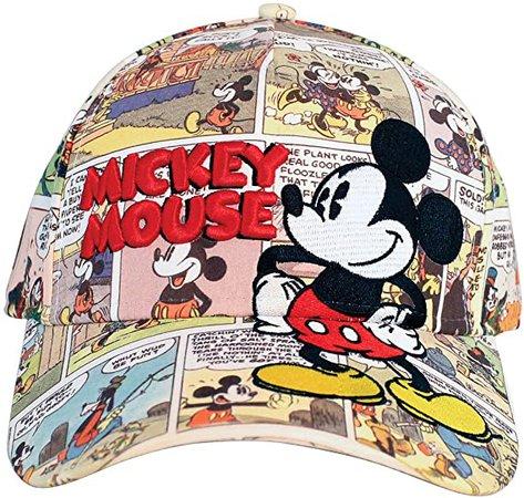 Amazon.com: Disney Mickey Mouse Old Comic Prints Adult Baseball Cap: Clothing