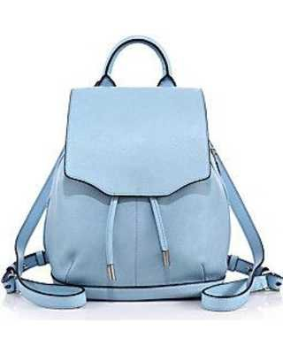 leather blue backpack - Google Search