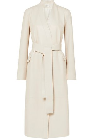The Row | Jumo belted textured-leather coat | NET-A-PORTER.COM