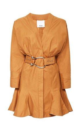 Bastor Belted Cotton Mini Dress By Acler | Moda Operandi