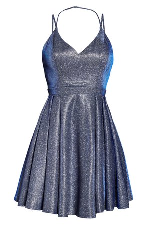 Sequin Hearts Glitter Party Dress | blue