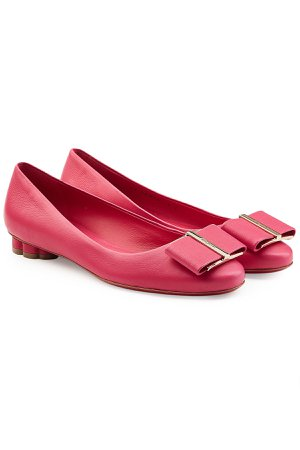 Capua Leather Ballerinas with Scalloped Heel Gr. US 8