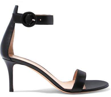 Portofino 70 Leather Sandals - Black