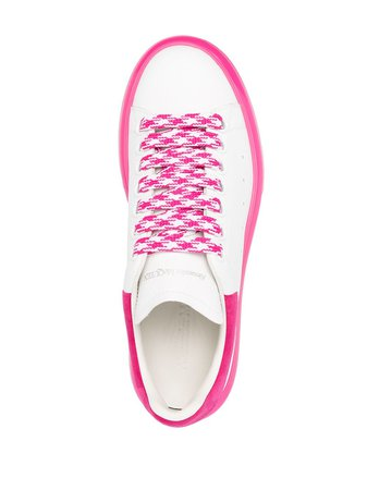 Shop white & pink Alexander McQueen Oversized contrast-sole sneakers with Express Delivery - Farfetch