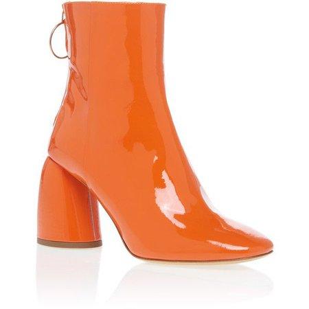 patent orange boots