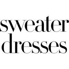 Sweater Dresses Text