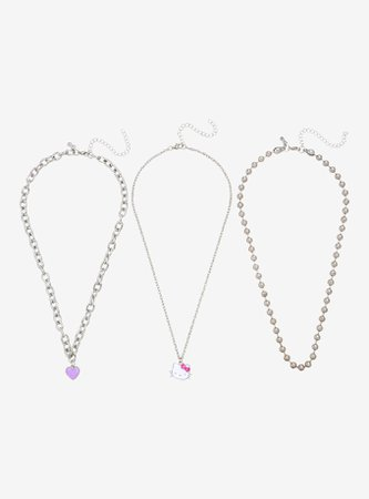 Hello Kitty Chain Necklace Set
