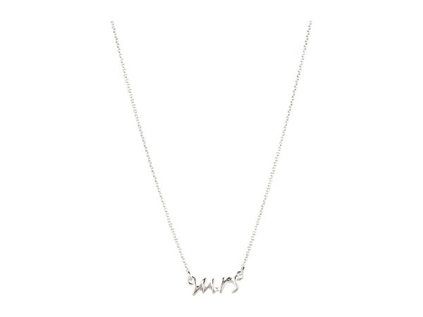 Kate Spade New York - Say Yes Mrs Necklace (Silver) Necklace