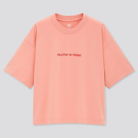 WOMEN MICKEY MOUSE X KEITH HARING UT (SHORT-SLEEVE GRAPHIC T-SHIRT) | UNIQLO US pink