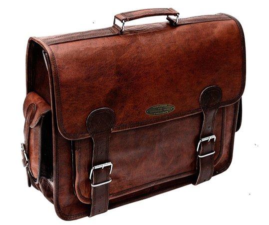Brown Leather Messenger Bag for Men 18 inch Big Women Shoulder Cross Body Brown Laptop Computer Briefcase Bag