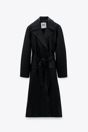 LIMITED EDITION FAUX LEATHER TRENCH COAT   ZARA MAINLAND CHINA / 中国大陆