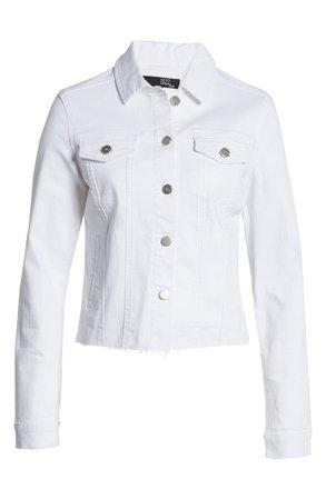 1822 Denim Fray Hem Denim Jacket | Nordstrom