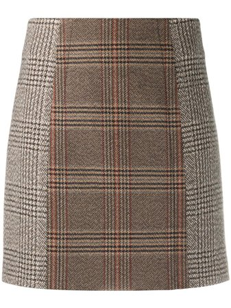 Sandro Paris Check Mini Skirt - Farfetch
