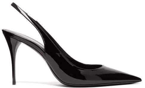 Lexi Patent-leather Slingback Pumps - Womens - Black